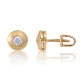 Золотые серьги с куб. цирконием (С0272)