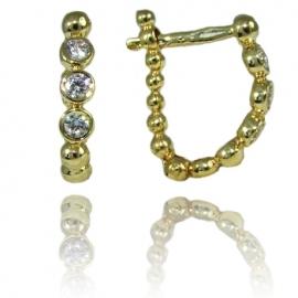 Золотые серьги с куб. цирконием (С1029)