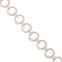 Золотой браслет с куб. цирконием (БТ0168)