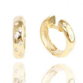 Золотые серьги с куб. цирконием (С0941)