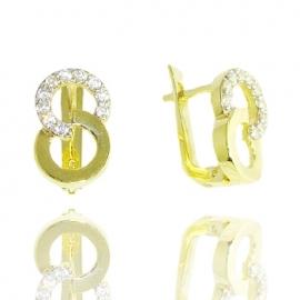 Золотые серьги с куб. цирконием (С0953)