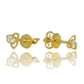 Золотые серьги с куб. цирконием (С0990)