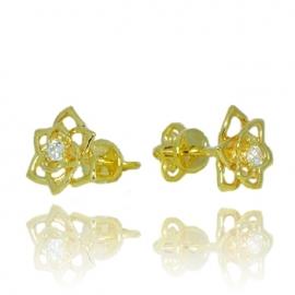 Золотые серьги с куб. цирконием (С0833)