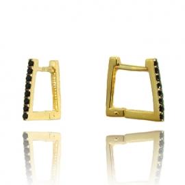 Золотые серьги с шпинелью (С0986)