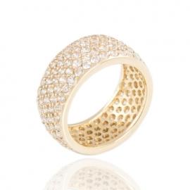Золотое кольцо с куб. цирконием (К0433)