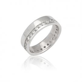 Обручальное кольцо  с куб. цирконием (К0578)