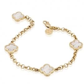 Золотой браслет с перламутром (БТ0204)