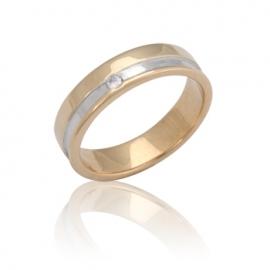 Обручальное кольцо  с куб. цирконием (К0283)