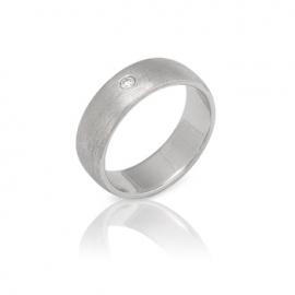 Обручальное кольцо с бриллиантом (К0332)