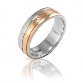 Обручальное кольцо с бриллиантом (К0336)