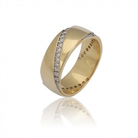 Обручальное кольцо  с куб. цирконием (К0344)