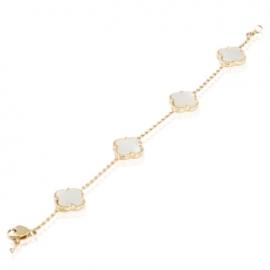 Золотой браслет с перламутром (БТ0189)