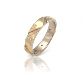Обручальное кольцо с бриллиантом (К0398)