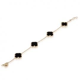 Золотой браслет с ониксом (БТ0189)