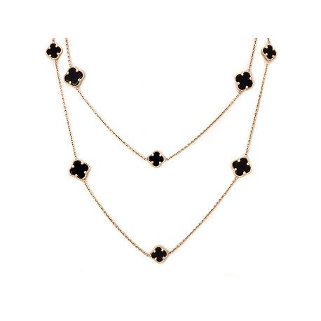 Золотая цепь с ониксом (КЛ0177)