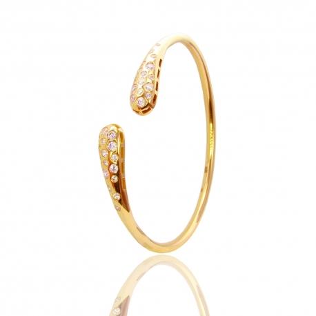 Золотой браслет с куб. цирконием (БТ0268)