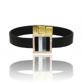 Золотой браслет с куб. цирконием (БТ0241)