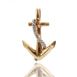 Золотой кулон Якорь  (П0330)