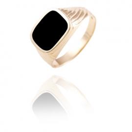Золотое кольцо с ониксом (1068)