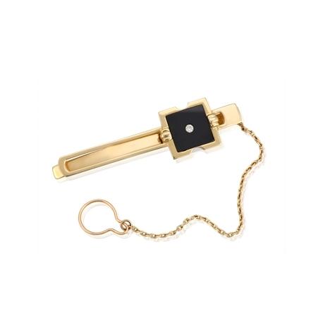 Зажим для галстука с фианитом (ЗЖ0181)