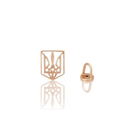 Золотой значек тризубец (993)