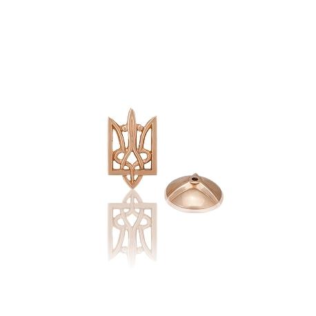 Золотой значек тризубец  (З0009)