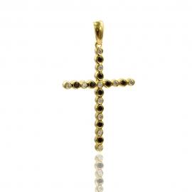 Золотой кулон с куб. цирконием и шпинелью (П0170)