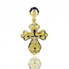 Золотой крестик с куб. цирконием (П0311)