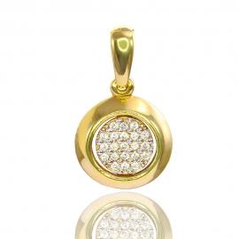 Золотой кулон с куб. цирконием (П0546)