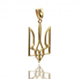 Золотой кулон Тризубец