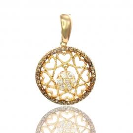 Золотой кулон с куб. цирконием (П0603)