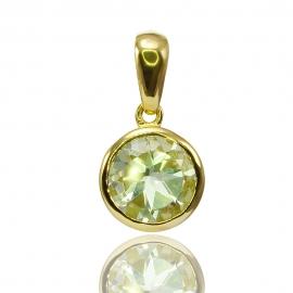 Золотой кулон с кварцем (П0606)