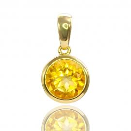 Золотой кулон с цитрином (П0606)