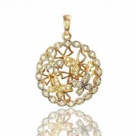 Золотой кулон с куб.цирконием (П0630)