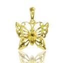 Золотой кулон Бабочка (П0674)