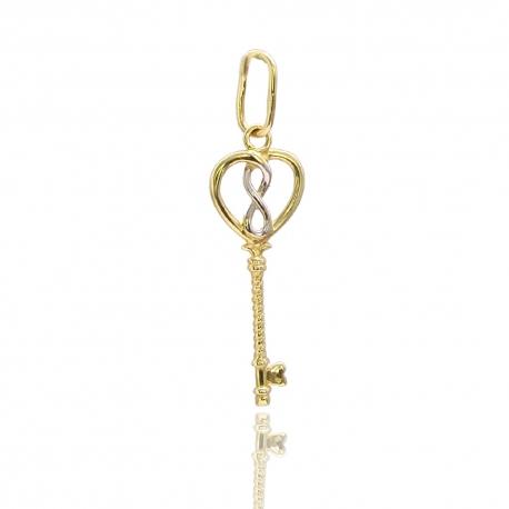 Золотой кулон Ключик (П0699)