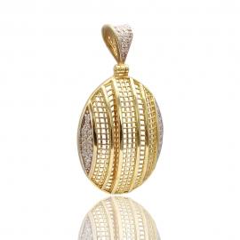 Золотой кулон с куб. цирконием(П0741)