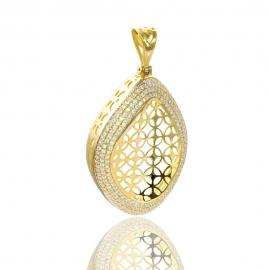 Золотой кулон с куб. цирконием(П0745)