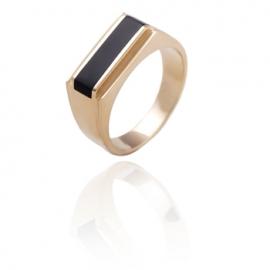 Золотое кольцо с ониксом (1220)