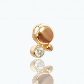 Золотой кулон с куб. цирконием(П0767)