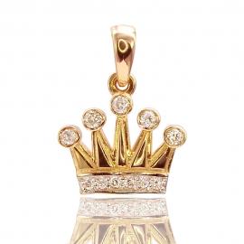 Золотой кулон Корона (П0832)