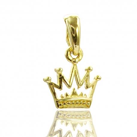 Золотой кулон Корона (П0833