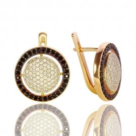 Золотый серьги с куб. цирконием (С0781)