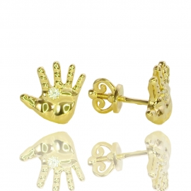 Золотые серьги Ладошка Младенца