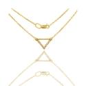 Золотое колье с куб. цирконием (КЛ0206)