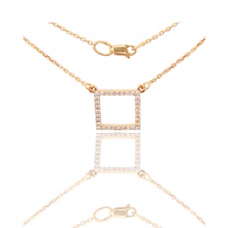 Золотое колье с куб. цирконием (КЛ0205)