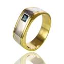 Золотое кольцо с сапфиром (К0228)