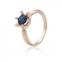 Золотое кольцо с сапфиорм (К0014)