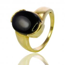 Золотое кольцо с перламутром (К0512)
