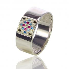 Золотое кольцо с куб. цирконием (К0871)